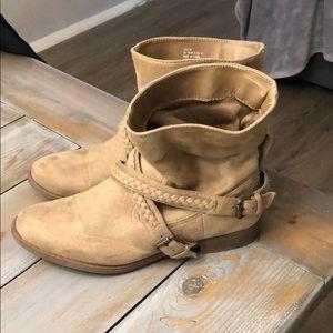 JustFab Shoes - Tan Flat Boot